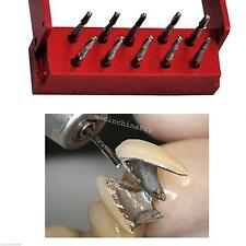 10pcs High speed Dental Tungsten Steel Crown Metal Cutting burs FG-1957 W holder
