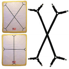 2Pcs Adjustable Sheet Bed Suspenders Sheet Holder Elastic Crisscross Fasteners