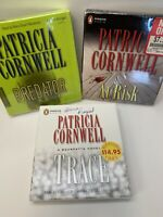 Lot of 3 Patricia Cornwell AUDIO BOOK CDs Predator / At Risk / Trace 2 Sealed
