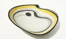 XL Ruscha Domino Dish Bowl 729/2 Fat Lava Era Modernist Hand Painted Signed 30cm
