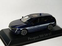 Peugeot 508 SW GT Line GENDARMERIE de 2019  Bleu Foncé au 1/43 de NOREV 475830