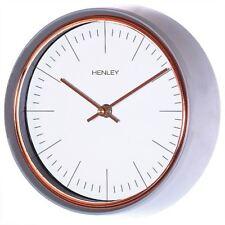 Henley Mini Porthole Design Wall Clock Grey Case 25cm