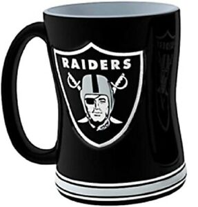 Las Vegas Raiders 14 oz Team Color Sculpted Logo Relief Coffee Mug  - NEW