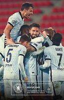 Chelsea v Krasnodar CHAMPIONS LEAGUE MATCHDAY PROGRAMME 8/12/2020