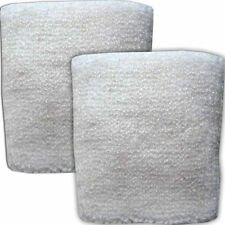 Pair of White Wrist Exercise Sweatbands Table Tennis Badminton Squash Wristbands