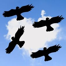 4x Vogel Aufkleber 40cm, Fensteraufkleber, Warnvögel, Vogelschutz Sticker V2