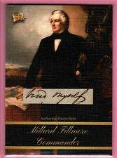 2020 Pieces of the Past ** MILLARD FILLMORE  HAND SCRIPT  AUTHENTIC PIECES RELIC