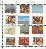 = Art, Painting = CANADA DAY = 1982 #966a MNH Pane sheet of 12