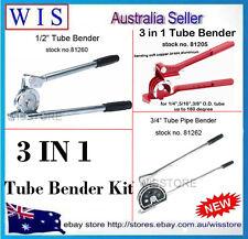 """PACK OF 3 1/2"""" & 3/4"""" & 1/4"""",5/16"""",3/8"""" Tube Bender Kit for Sofe Tube"""