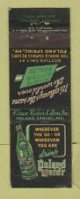 Matchbook Cover - Hiram Ricker Sons Poland Spring Water ME WEAR