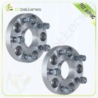 """(2) 25mm 5x4.5 Wheel Spacers 1"""" 12x1.5 Stud For Kia For Hyundai Mazda For Toyota"""