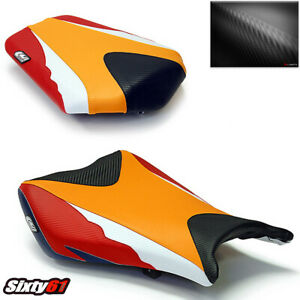 Honda CBR 1000RR Seat Cover 2008 2009 2010 2011 Front Rear Luimoto Orange