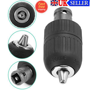 2-13mm Drill Chuck Screwdriver 1/2 Hex Keyless Impact Driver Adapter Hex Shank