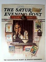 Authentic April 24, 1937 Saturday Evening Post Cover Norman Rockwell