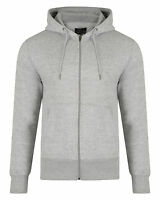 SMITH & JONES New Mens Full Zip Hooded Sweatshirt Fleece Hoodie Hoody Light Grey