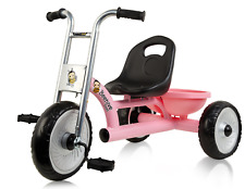 Pink Easy Rider Trike for Kids with Retro Style Frame, Pink Tricycle