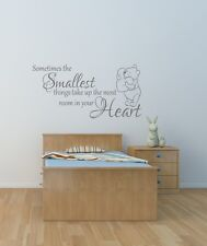 Winnie the pooh quote wall art sticker children's bedroom /playroom/ nursery