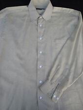 Jhane Barnes Mens Button Front Long Sleeve Designer Cotton Shirt 15 1/2