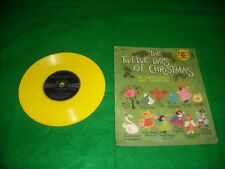 THE TWELVE DAYS OF CHRISTMAS 78 SPEED RECORD!! COLLECTIBLE!! YELLOW RECORD!!