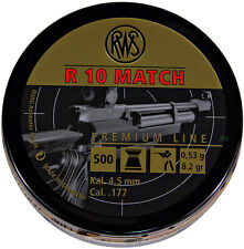 RWS R10 MATCH 8.2gr .177 4.50 Air Rifle Gun Match Target Flathead Pellets 500