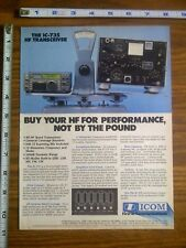 1987 ad page - ICOM IC-735 Radio Transceiver ADVERTISING #12