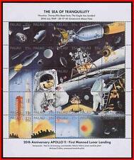 PALAU 1989 SPACE / APOLLO 11 on MOON (SEA of TRANQUILLITY) M/S MNH (FOLDED)