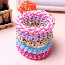 10Pcs Women Cute Telephone Wire Elastic Rubber Bands Hair band Headband