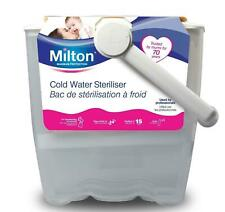 Milton Cold Water 6 Bottle Baby Steriliser Bucket with Handle - White (9798256308406)