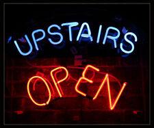 "New Upstairs open Beer Bar Neon Light Sign 24""x20"""
