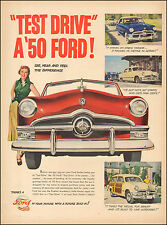 1950 Vintage ad for `50 Ford Red Retro Car Blue White  (052317)