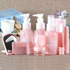 10pc/Set MakeUp Empty Bottle Lotion Container Travel Toiletry Wash Tool Bag Kit