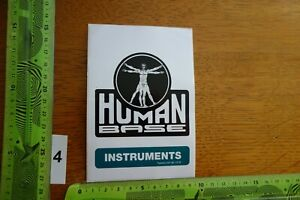 Alter Aufkleber Musikinstrument Gitarre HUMAN BASE INSTRUMENTS