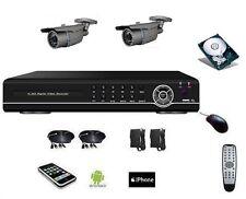 Vidéosurveillance 700 TVL, DVR IP 4voies + 2 caméras zoom int/ext IR 40m