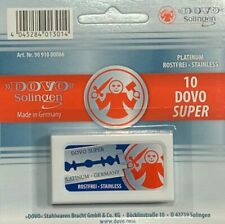50 Razor Blades For Safety Dovo Super - Platinum Stainless Solingen Germany