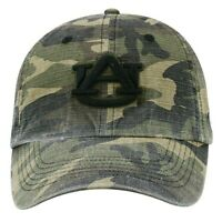 Auburn Tigers Hat Cap Camo Adjustable Strap One Size Fits Most USA Flag Patch