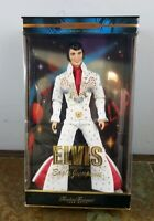 Elvis Presley Collection Doll White Eagle Jumpsuit Mattel 2000 New in Box NRFB