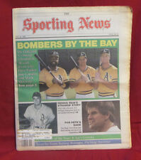Oakland A's Bombers May 16, 1988 Sporting News Magazine Full Newspaper