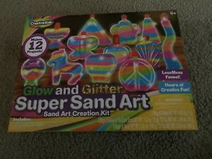 Glow And Glitter Super Sand Art Creation Kit Brand New Free Shipping