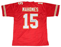 KANSAS CITY CHIEFS PATRICK MAHOMES AUTOGRAPHED SIGNED #15 RED JERSEY JSA