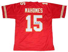 KANSAS CITY CHIEFS PATRICK MAHOMES AUTOGRAPHED SIGNED #15 RED JERSEY JSA