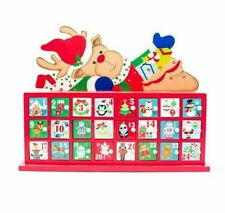 Christmas Wooden Advent Calendar Storage Drawers Box Holiday Countdown Accessory