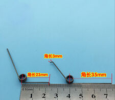 4Pcs Wire Dia 0.8mm OD 7.4mm 2 Coils 90 Degree Torsion Spring