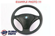 BMW 5 Series E60 E61 Black New Leather Steering Wheel