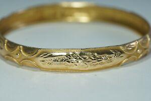 """21K Yellow Gold BANGLE Bracelet, 11 grams, Arabic Gold 7.5"""""""