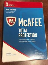 McAfee 2017 Total Protection 1 Year 5 Devices Keycard MTP17ETG5RAA