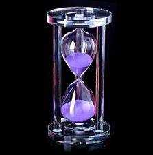 Clessidra In Vetro Crystal Timer Sabbia Colorata Durata Tempo 10 Minuti dfh