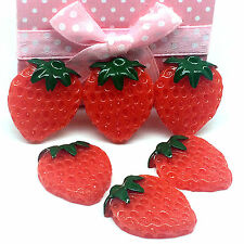10pcs Red Strawberry embellishment Resin Flatback ScrapbookIng for phone/craft、
