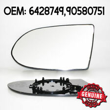 Mirror Glass Left Wide Angle Heated & Base For Opel Vauxhall Zafira A / MK1