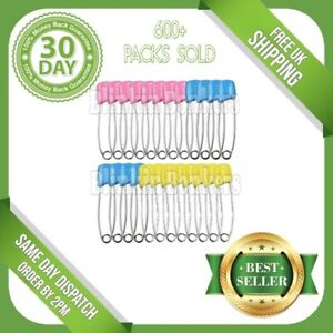 24 PACK OF LARGE NAPPY DIAPER SAFETY PINS TERRY NAPPIES BABY CHANGE FASTENERS UK