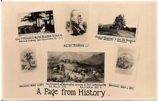 """A Page From History""  Scenes Near Uniontown PA RP Postcard"